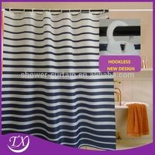 Waterproof Customized Printed Hookless Shower Curtains