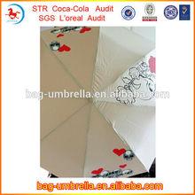 2014 New Design Abaya 21inchx8k Three Fold Auto Open Auto Close Cute Rain Umbrellas