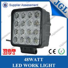 16pcs*3W Hot Sale 48w led work light offroad 12V led Work Light 4x4 ATV Tractor work light Flood/Spot Beam