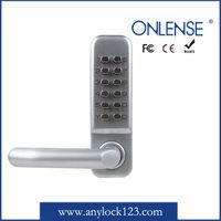 Mechanical combination double glass door lock