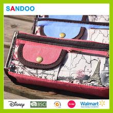 2014 Walmart audit Canvas pencil bag , popular Canvas pencil case