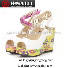 2014 wedge heel shoes strange heel shoes 10cm high heel shoes for women