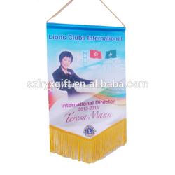 High quality rectangle political relationship custom football/soccer pennant