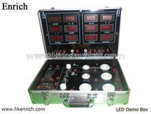 6 in one Aluminum Mini Led Demo Kit Portable Led Demo Case for Test Lamp