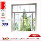 General residential aluminum casement double opening windows