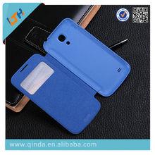 Ultrathin window Smart Wake Sleep PU Leather Case for Samsung Galaxy S4 Mini i9500