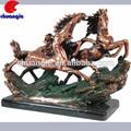 Caballo al galope, modelo de caballo, estatua de resina de decoración