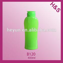 400ml PET bottle shampoo in green bottle /empty shampoo bottles