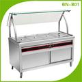 Comercial de aço inoxidável Food Warmer / Bain Marie / equipamentos de restaurante