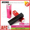 afc2003 accesorio del teléfono móvil 2200 mah oem slim de copia de seguridad externa universal portátil móvil manual para banco de potencia