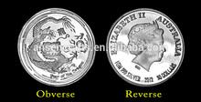 1 Gram Australia Chinese Lunar Dragon Pure Silver Coins