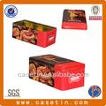 Clássico forma retangular marca café caixa da lata& café dom embalagem de lata