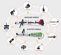 9IN1 farm set electric grass cutting machine parts