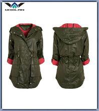 brand top quality coat jacket winter coat 2014 woman waterproof long trench coat