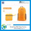 Orange foldable waterproof bag 600d or 420d nylon backpack