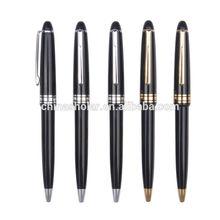 Click metal clip black pen