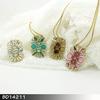 Hot Sale Style Rhinestone beautiful shape necklace famous