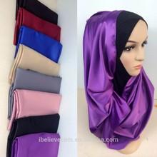 2015 wholesales silk hijab head scarf
