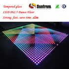 Professional Effect Tempered Glass LED Used Portable Dance Floor