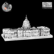 3D Nano Metallic DIY Model United States Capitol 3D Building Puzzle