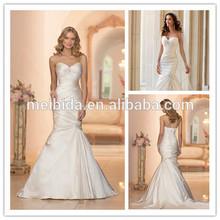 Customize size&color Mermaid alibaba wedding dress 2014
