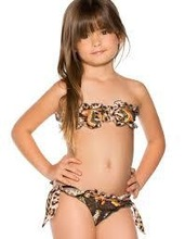 2014 lovely micro leopard print children girl swimwear/girl swimwear/ kids bikini