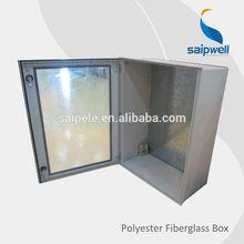 Weatherproof IP66 Outdoor Lockable Fiberglass Box with clear lid 500x400x200mm