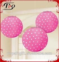 """4""""-24"""" polka dot in round chinese wedding paper lantern"""