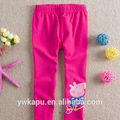 moda rosa quente leggings com cartoons calças venda quente