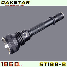 DAKSTAR New Arrival ST16B-2 MT-G2 1860LM Side Switch Stepless Dimming Tactical Most Powerful Rechargeable LED Flashlight