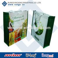 Colorful printing PP Woven shopping bag