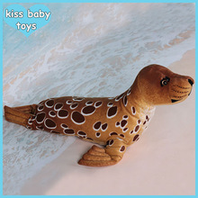 Brown Seal Hot selling costume oem factory with icti audit sea animal stuffed plush toy