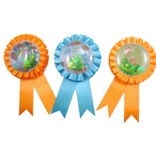 Happy Easter PVC Button Award Ribbon Rosette