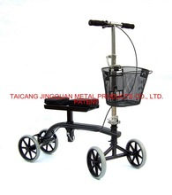 Patent design Knee walker with removeable basket / Steel Knee Scooter
