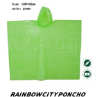 advertisement PE raincoat rain cape poncho