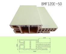 with wood grain pvc film wpc door jamb/door case(HMD 120E-50)