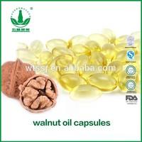 Fctory supply improve brain capsules walnut oil capsules, 100%prue walnut oil