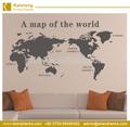De alta calidad& nuevo estilo de mapa del mundo etiqueta de la pared para la decoración del hogar/de vinilo etiqueta de la pared de papel mapa mundo etiquetas de la pared