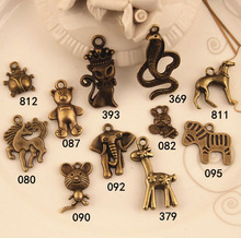 various anmial jewelry charm collections horse snake deer elephant cat ladybug customized fashion animal charms accessories