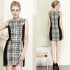 Latest women girl fancy new design contrast lady dress
