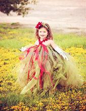 2014 New Arrival Flower Girl Dress/ dress for girl 3 years/Tutu Dress Girl Party Wear Western Dress