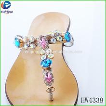 HW4338 most elegant T shape sandal chains decoration for shoe shop for lady sandals s