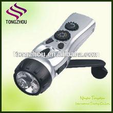 Emergency Dynamo led Flashlight /Dynamo torch light/Dynamo flashlight with mobile charger radio