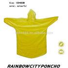promotional PE raincoat rain cape poncho