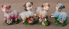 Yong feng xiang sheep money box, christmas gifts,sheep coin bank with gold painting,new year gifts