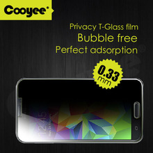 9H 2.5D 0.33mm privacy cell phone tempered glass screen protector for samsung S5 OEM/ODM
