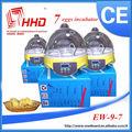 96% معدل فقس فقس البيض رخيصة الثمن التلقائي آلة تفريخ بيض الدجاج للبيع 7 إدوارد العلامة التجارية من الصين