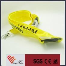 Tamanho especial cordão de poliéster personalizado com fivela de liberação e chaveiro ou da garra da lagosta