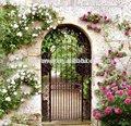 2014 hot sale pó revestido de metal portões de jardim ( de fábrica )