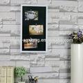 fácil de pendurar frutas shabby do retrato da parede com moldura de foto digital com estação meteorológica